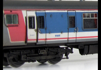 A picture of Class 411 with full respray into NSE livery (no transfers used) although remaining in an unrefurbished condition with headlight added.