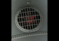 A picture of Close up of 3D etched fan and grill