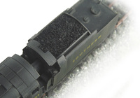 A picture of Close up of plastic coal replaced with real coal.