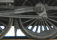 A picture of Close up of steam loco wheels
