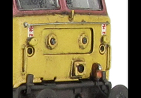 A picture of 47972 Full respray into Technical Services livery. Details include finer ariels, body lowered, etched fan and grills, lamp marker pods on nose, etched nameplates, renumbered, detailed buffer beam at one end, semi detailed buffer at coupling end, moulded nose handrails replaced with wire including pommels and nose catch added.