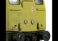 A picture of 24132 conversion to a plated over end door version with centre headlights, battery box modification with shorter tank, body side steps plated over and new side door, detailed buffer beam at one end with semi detailed beam at coupling end, renumbered, weatherised headcode panel, tablet catcher, etched workplates, etched 3D roof grill with fan, snowploughs, speedo cable, fuel cap moved and boiler grill blanking plate replaced with correct kind.