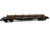 A picture of BDA Wagon with special effects of paint peeling and rust. Load added with straps.