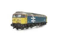 A picture of 47571 with full respray to BR Large Logo. Details include; aerial taken off and smoothed over, body lowered, etched fan and grills, renumbered, detailed buffer beam at one end and semi detailed at coupler end, molded nose handrails replaced with wire including pommels, driver and nose catch added.