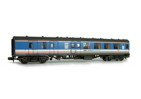 A picture of MK1 NSE renumbered with passengers and curtains added.