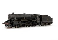 A picture of 45157 Added details include: moulded coal replaced with real coal, loco crew, etched depot plaques/work plates and detailed buffer beam.