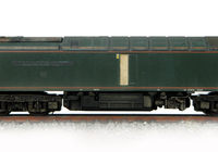 A picture of 60081 representing it's condition on on the scrap-line. Special effects include engine door boarded up, EWS maroon door, nameplates and plaques taken off with textured shadows, rust and fading with notes on windows. Model has also had it's body lowered and detailed buffer beam at one end.