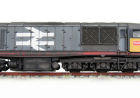A picture of 58029 Fitted with sound, livery errors corrected. Detailed buffer beam at one end. Nose end handrails and mu sockets replaced with finer versions and pommels added to nose rail. Special effect on lower body showing paint peeling. Body side handrails added. Renumbered