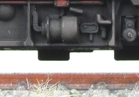 A picture of Close of class 86 bogies.