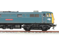 A picture of 86103 Conversion to a 86/1 with different side frames, viewing box added to roof, extra light on nose, box added to battery box, renumbered with etched nameplate, detailed buffer beam at one end and pommel added to nose end handrail.