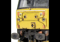 A picture of 47790 showing a partial respray to RES livery. Base model has been converted to a cutaway buffer beam example with etched kick plates and modified battery box. Other details include: detailed buffer beam at one end and semi detailed at coupling end, moulded nose handrails replaced with wire, renumbered, driver fitted, etched nameplates, mu cables added, body lowered, finer ariels, rectangular buffers, snowploughs and nose catch added