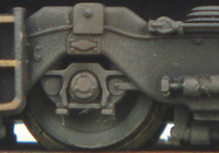 A picture of Close up of class 66 bogies