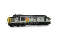 A picture of 37068 Full respray into Railfreight Sector livery. Other details include: body modifications including plated over boiler ports, double detailed buffer beam at one end, finer ariels, nose end etched air horns and headcode surrounds moulded roof grill replaced with 5 part etched fan and grill, bogie mod to reduce gap between body and bogies, speedo cable added, renumbered and etched nameplates added.