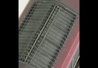 A picture of Close up of moulded roof grill replaced with etched version including pipes under the mesh.